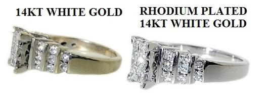 White Gold Ring Rhodium Plating